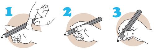 как правильно держать ручку при письме