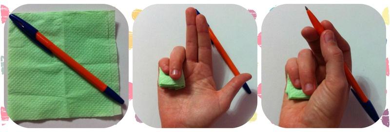 как правильно держать ручку приписьме