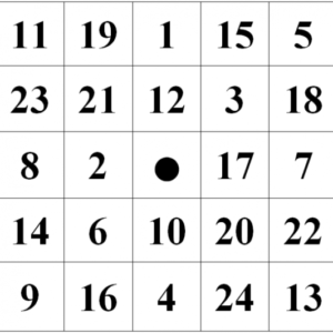 таблицы Шульте для детей