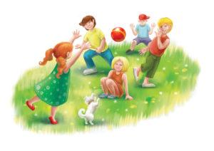 Детские игры с мячом