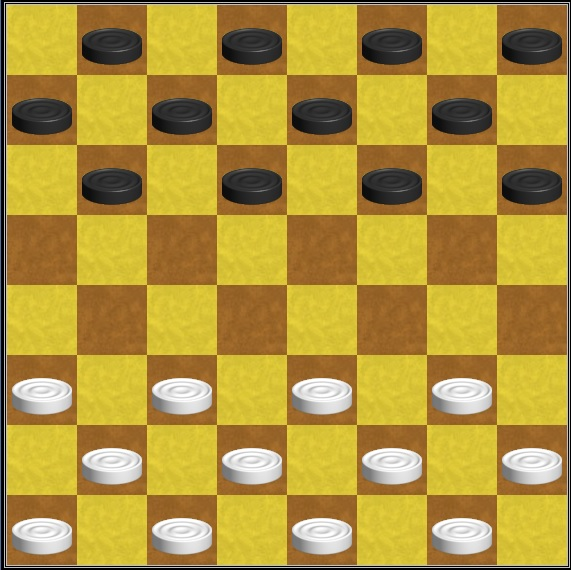 учим ребёнка играть в шашки